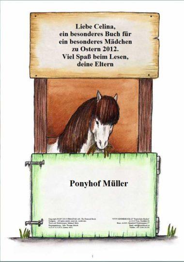Ponybuch Widmungsseite