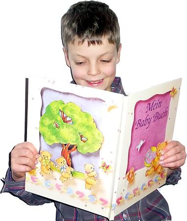 Personalisiertes Babybuch lesen
