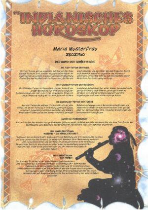 indianische Horoskopurkunde