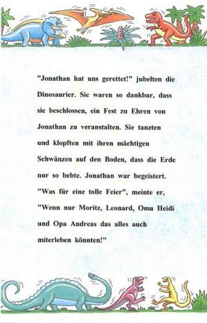 Leseprobe aus dem personalisierten Buch DINOSAURERLAND