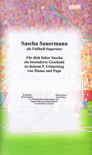 Leseprobe Widmungsseite personalisiertes Fußballbuch