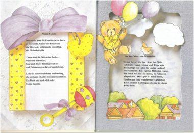 Leseprobe personalisiertes Babybuch Seite 2 und 3