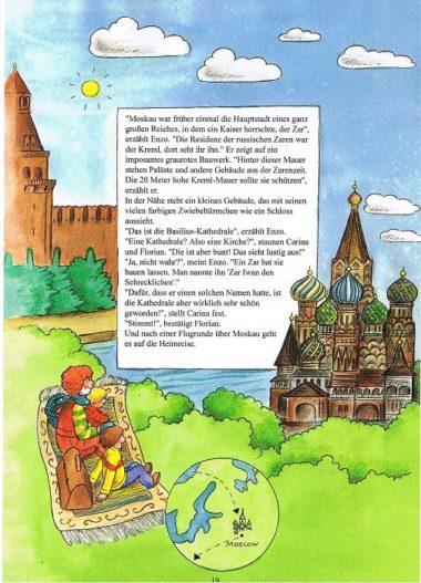 Weltreisebuch für Kinder Moskau